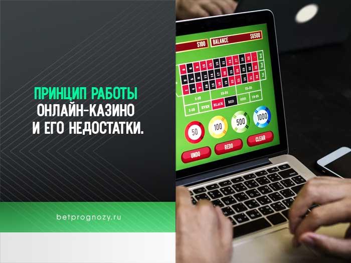 Принцип работы онлайн-казино и его недостатки.