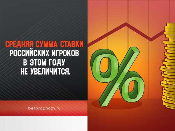 Средняя сумма ставки российских игроков в этом году не увеличится.