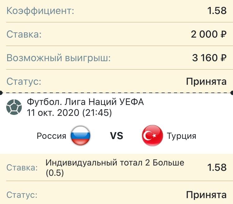 Прогноз на матч Россия - Турция. 11 октября 2020. Лига наций.